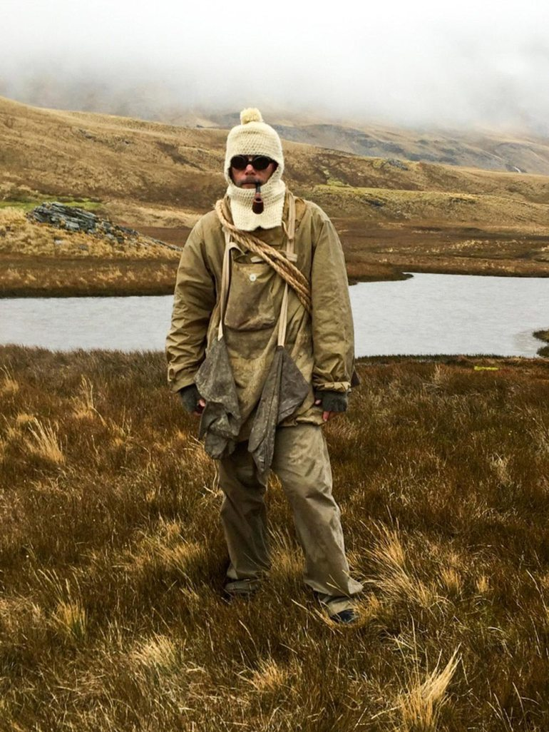 Man wearing Shackleton outift