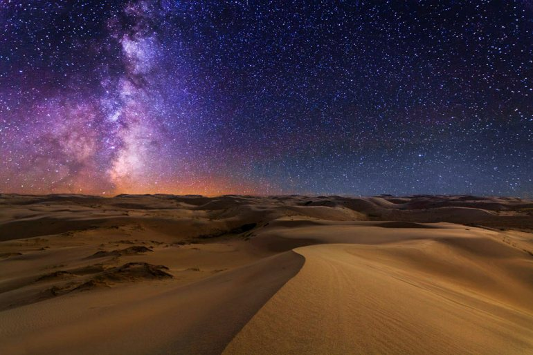 Gobi desert, Mongolia under the stars