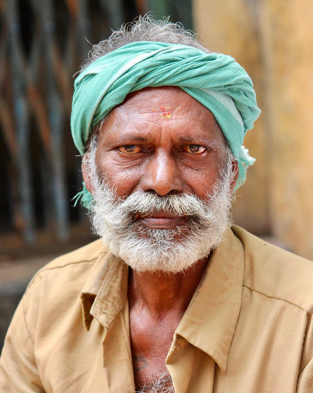 Man at Pongal Festival in India