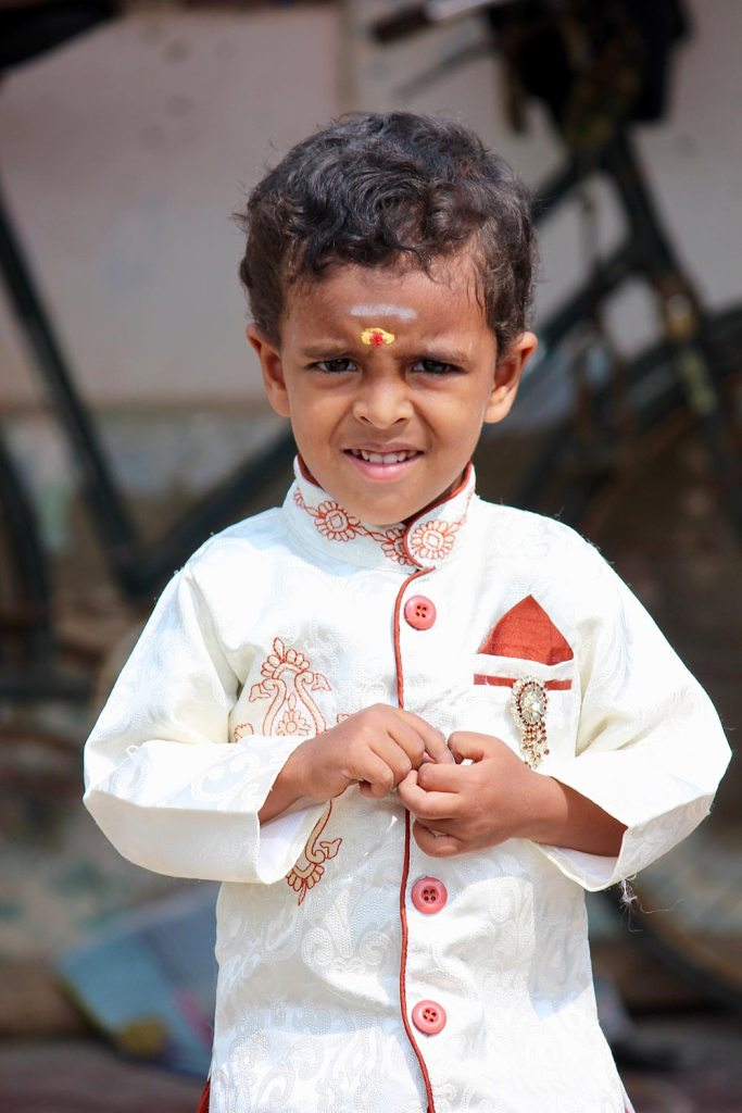 A young boy at a Pongal Festival India