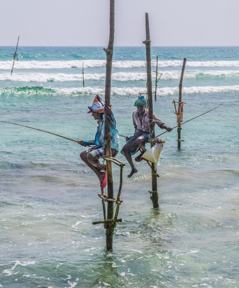 Fishermen in Galle Sri Lanka