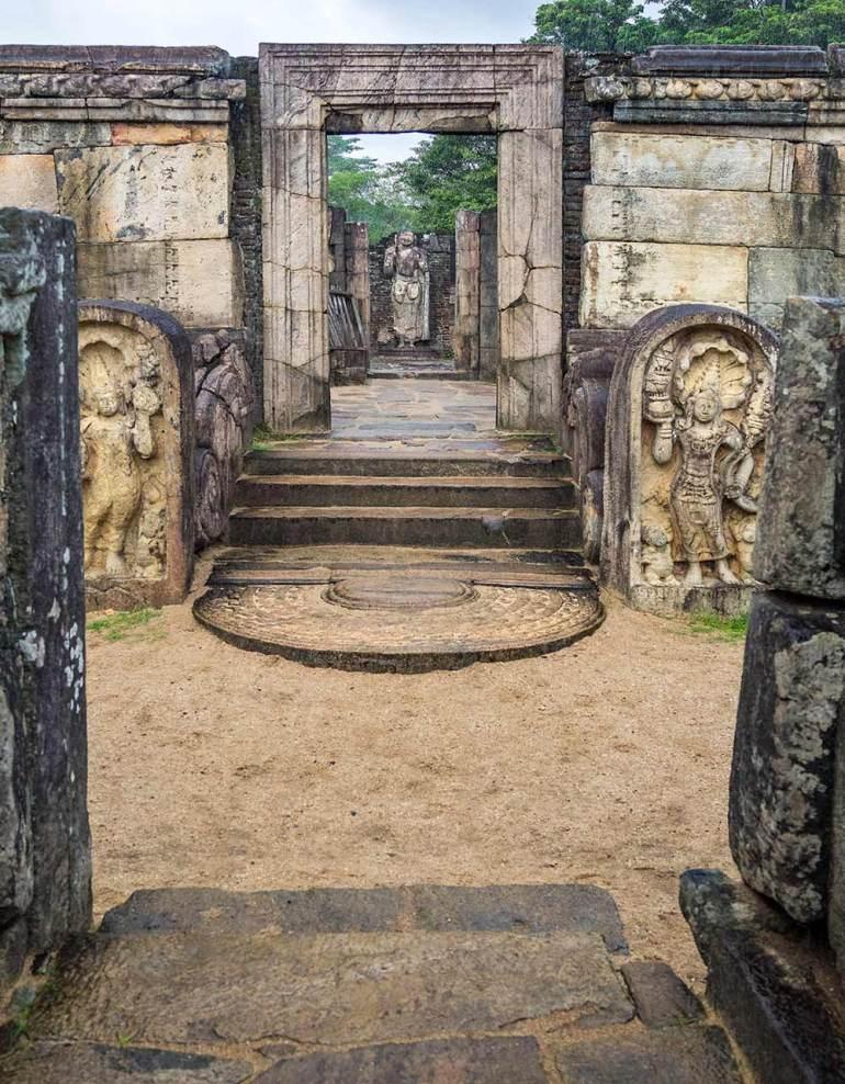 Hatadage in Polonnaruwa Sri Lanka