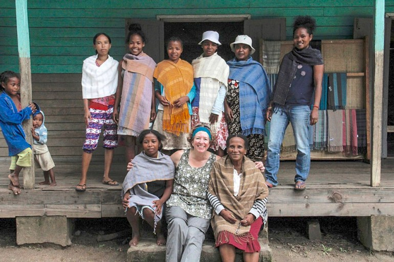 women's weaving cooperative in Madagascar