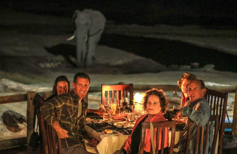 dinner with elephants zimbabwe