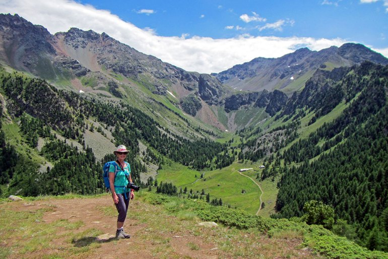 Woman in Chamole Italy hiking
