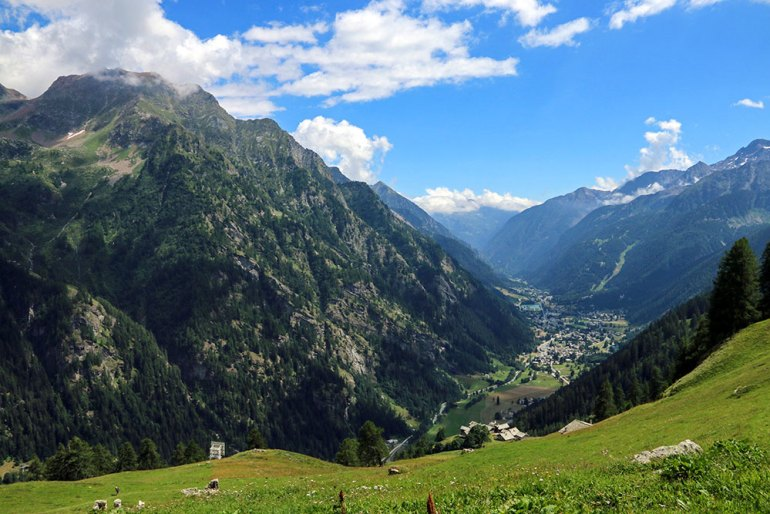 Above Gressoney-Saint-Jean in Valle del Lys Italy