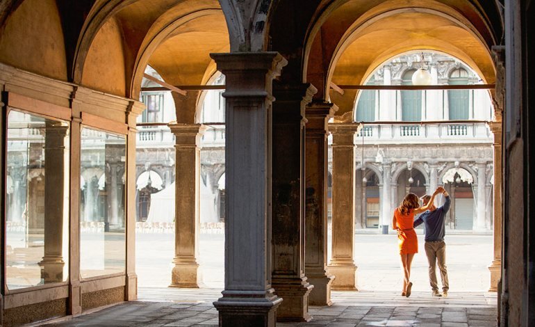 dancing couple in italy