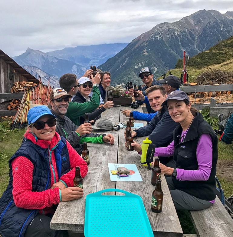 group photo in the alps