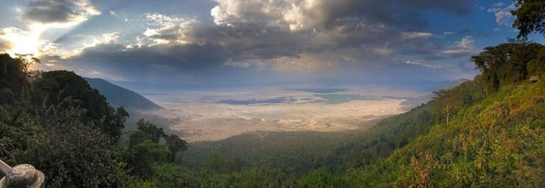 Panorama of Ngorongoro Crater Tanzania