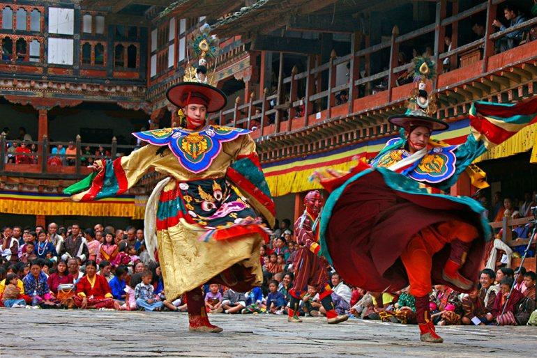 tsechu in Bhutan