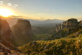 Sunset over Zagoria in Greece