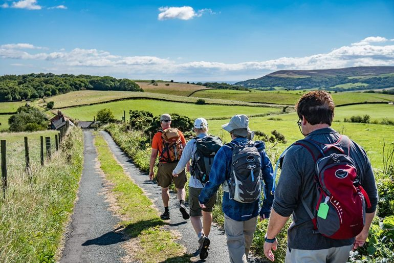 hiking north york national park in England