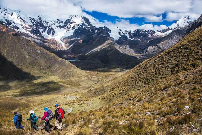hikers in the Cordillera Blanca