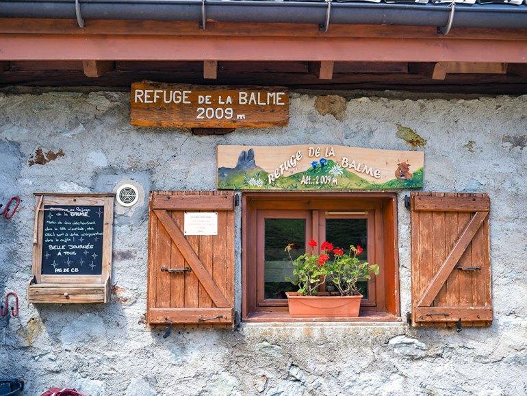 A pretty window near Mont Blanc