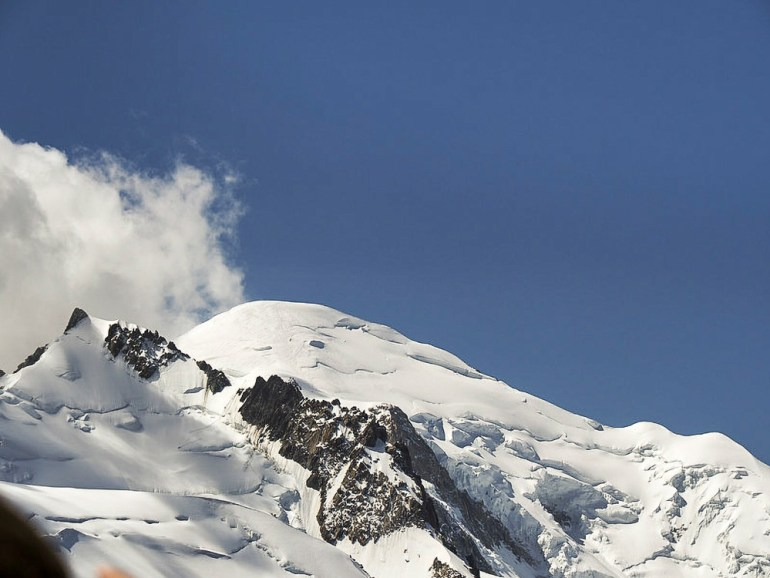 The top of Mont Blanc