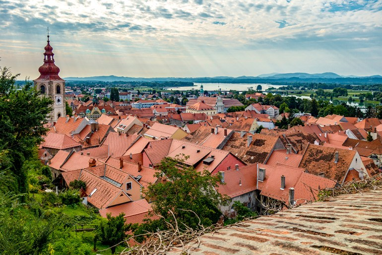 roofs of house in Slovenia