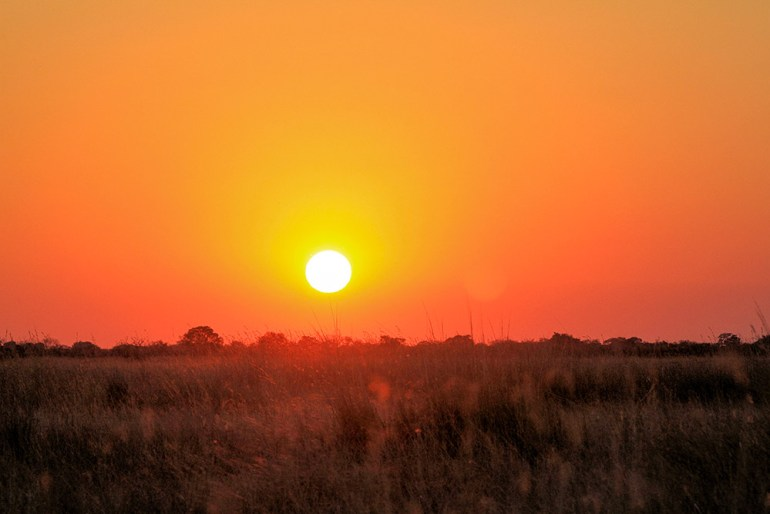 sunset in Zimbabwe