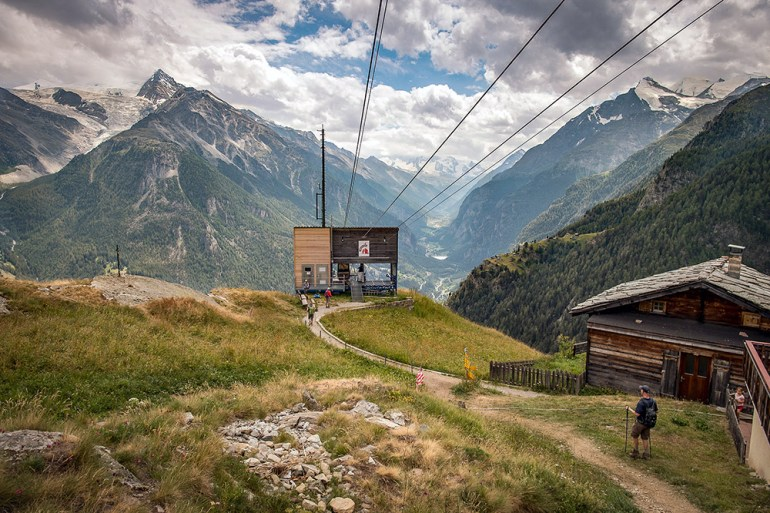 cable car on the haute route