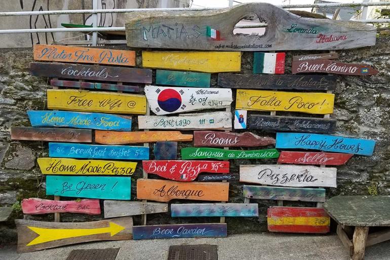 signs camino de santiago pilgrim's way spain