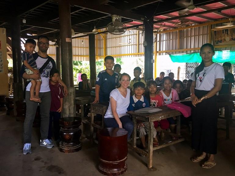 school visit in cambodia