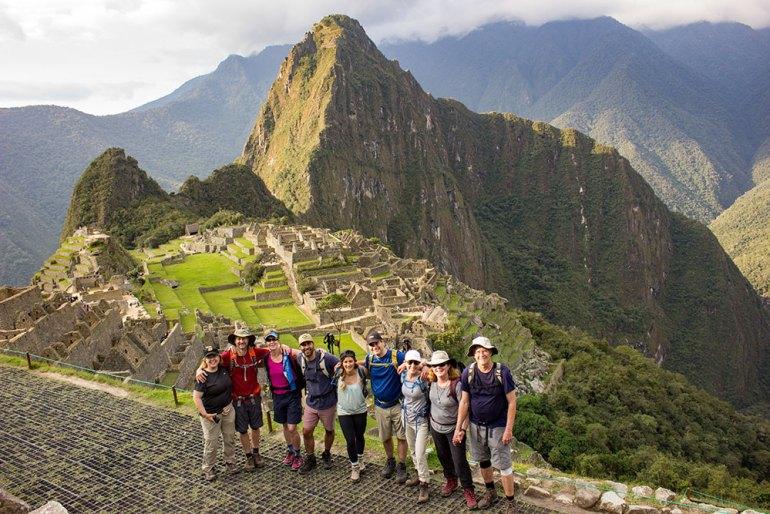 group photo Machu Picchu Peru