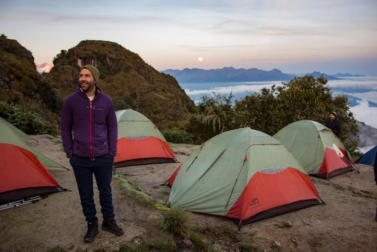 sunrise on the Inca Trail