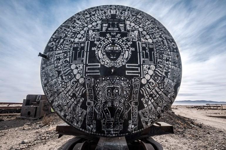 Abondoned train in Bolivia's Salar de Uyuni