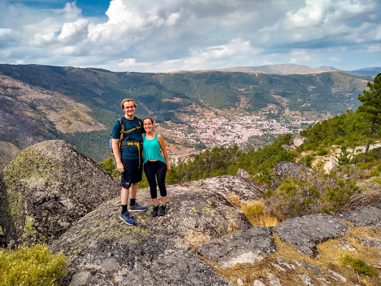 couple hiking in portugal