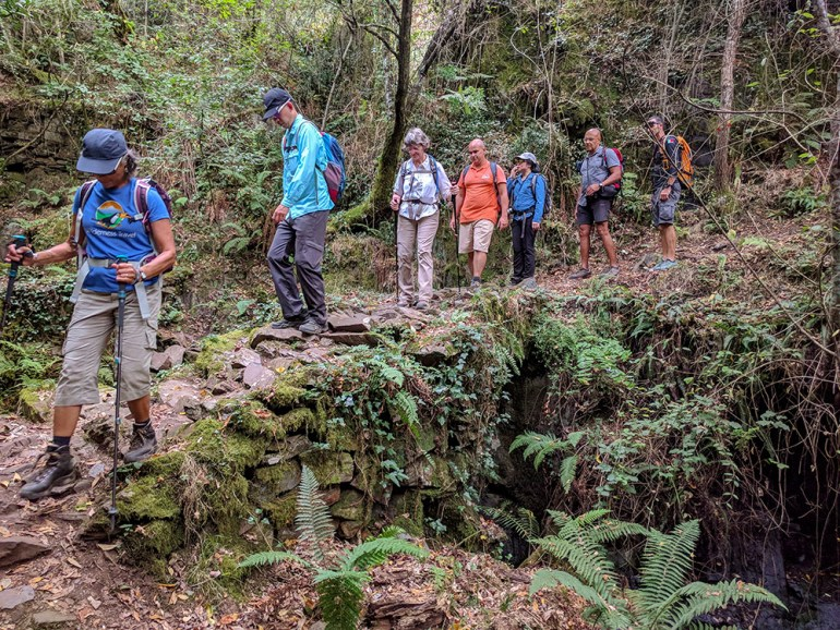 group hiking in portugal