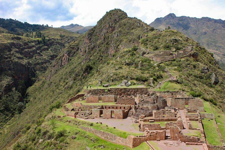 pisac inca temple in Peru