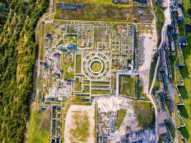 aerial photos saqswaywaman peru