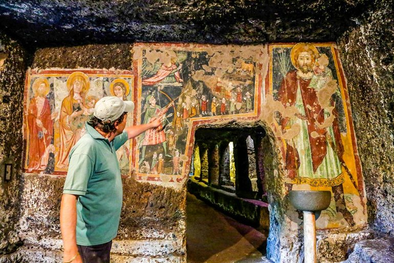sutri cave painting italy