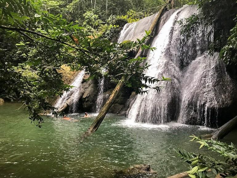 waterfall in raja ampat
