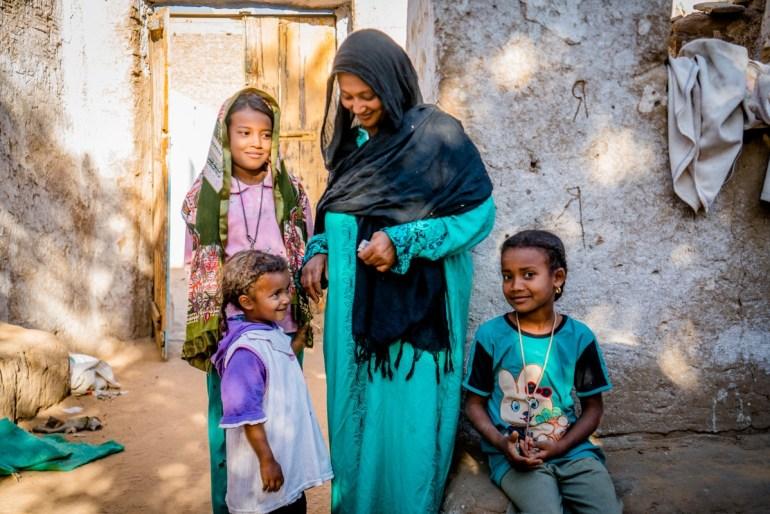 family photo in Egypt
