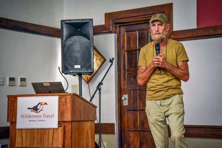 dr flip stander giving a presentation in Namibia