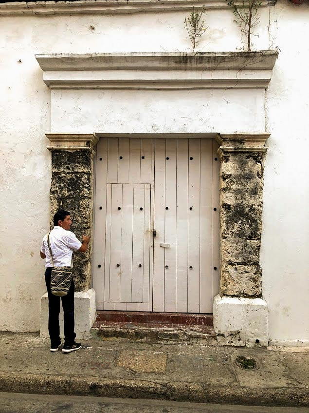door made out of coral in colombia