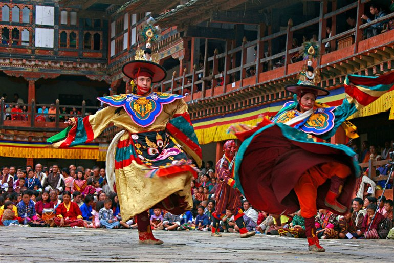 teschu dance in bhutan