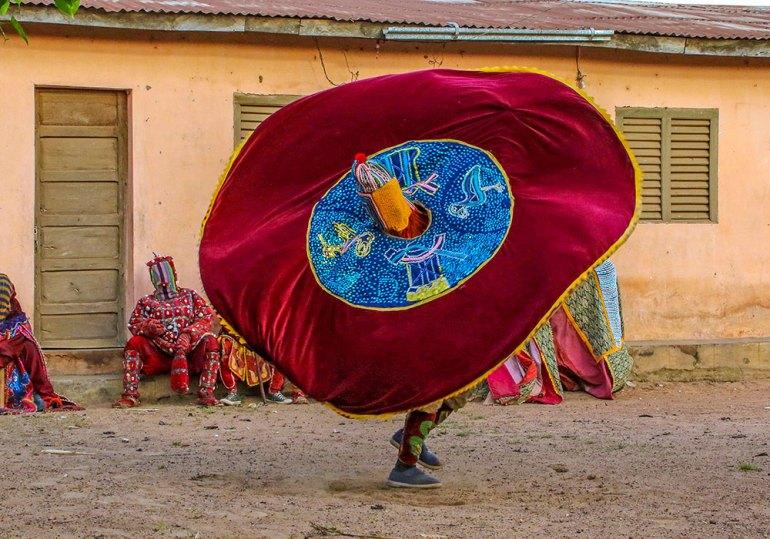 egun mask dance in West Africa