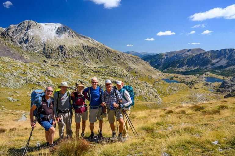 group photo on mont blanc to mediterranean