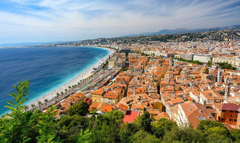 town near mont blanc to mediterranean