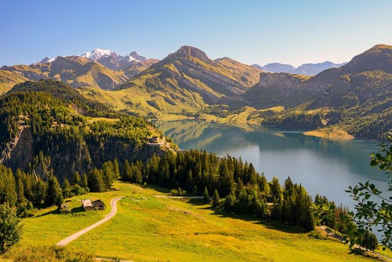 lake on mont blanc to mediterranean