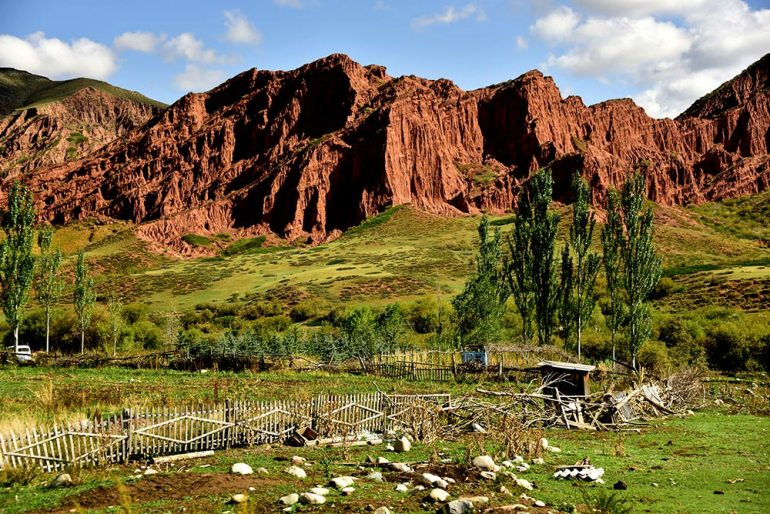 red rocks in Kyrgyzstan