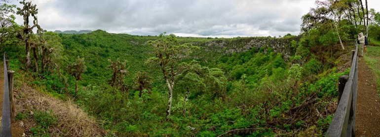 landscape panoramoc in the galapagos
