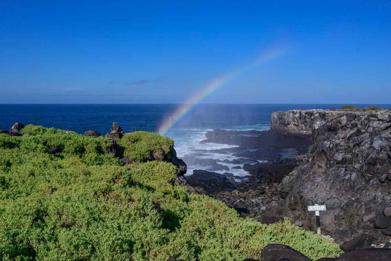 rainbow in the galapagos