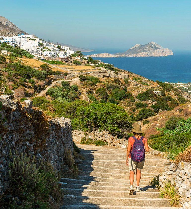 Greek Isles Cyclades Amorgos hiking in europe