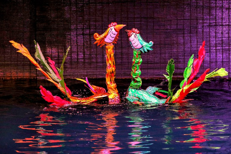water puppets in indochine