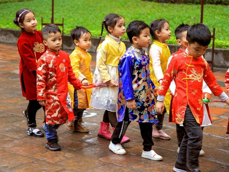 school kids in indochine