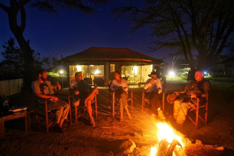 campfire safari camp in the serengeti