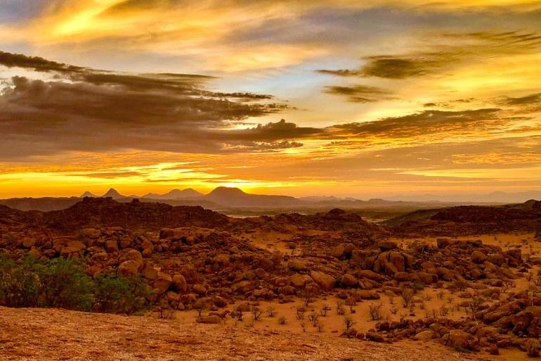 Namibia desert sunset