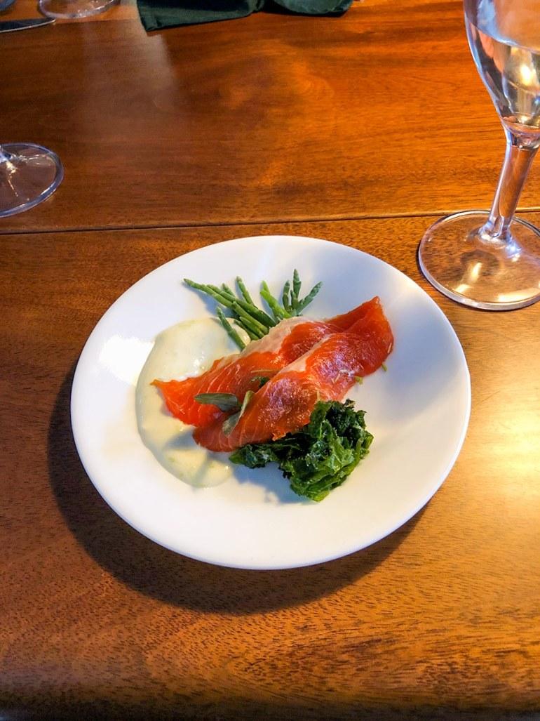 alaska inside passage salmon dish on board